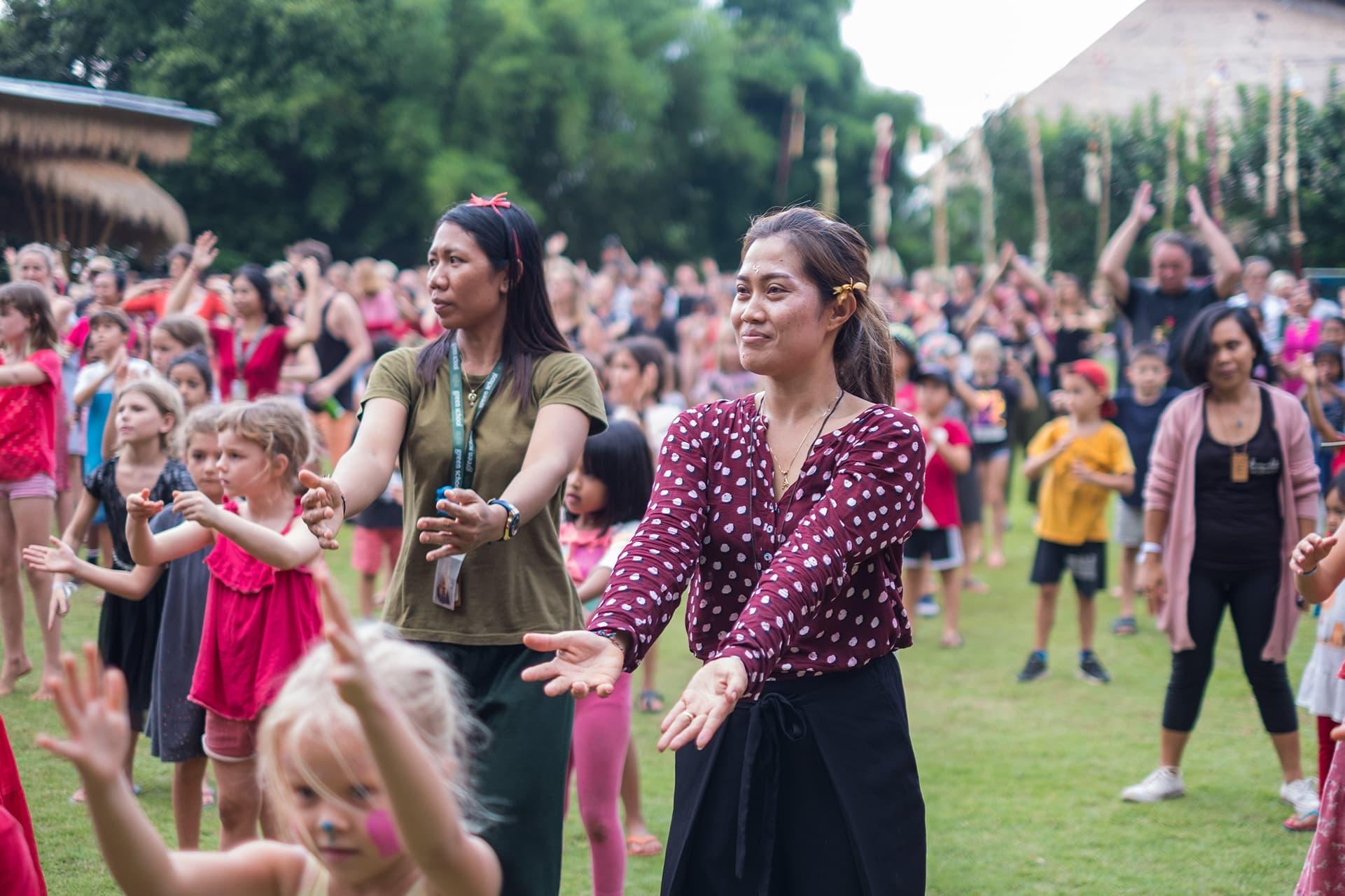 Green School Bali Rises for V-day 2020