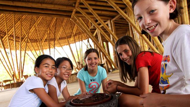 Students making chocolate